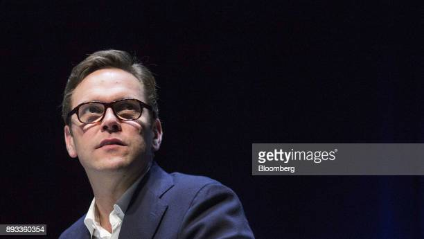 James Murdoch cochief operating officer of 21st Century Fox Inc pauses during a panel session at the Cannes Lions International Festival Of...