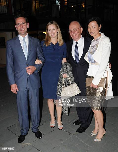 James Murdoch Kathryn Hufschmid Rupert Murdoch and Wendi Deng leave Murdoch's annual summer party at the Oxo Tower on the South Bank of the River...