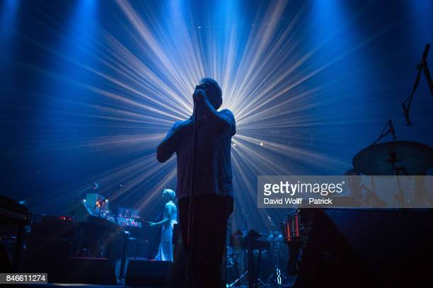 James Murphy from LCD Soundsystem performs at L'Olympia on September 13, 2017 in Paris, France.