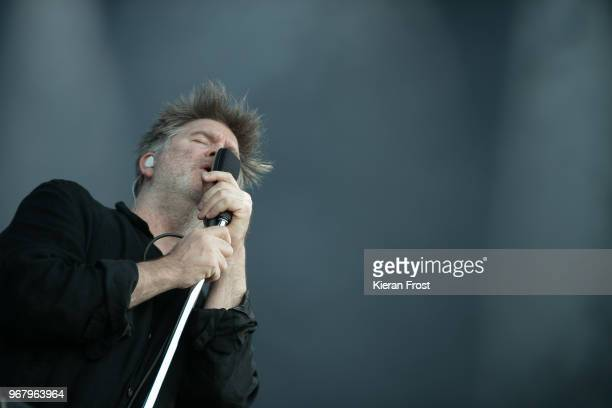 James Murphy of LCD Sound System performs at Malahide Castle on June 5 2018 in Dublin Ireland