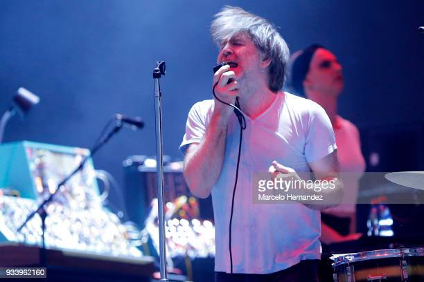 James Murphy of LCD sound system performs during the first day of Lollapalooza Chile 2018 at Parque O'Higgins on March 16 2018 in Santiago Chile
