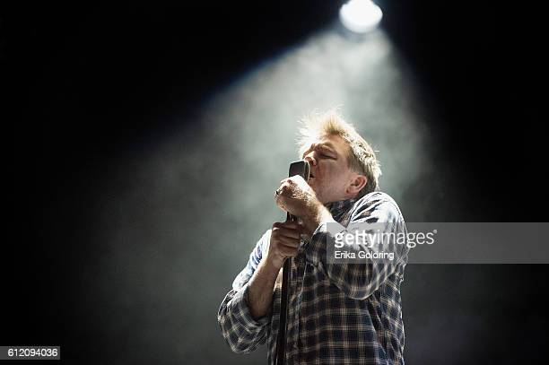 James Murphy of LCD Soundsystem performs during the Austin City Limits Music Festival at Zilker Park on October 2, 2016 in Austin, Texas.