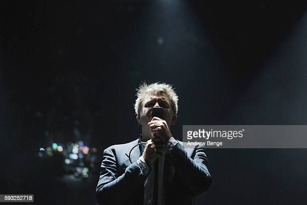 James Murphy of LCD Soundsystem performs on the Alpha Stage during day 3 of Lowlands Festival 2016 on August 21 2016 in Biddinghuizen Netherlands