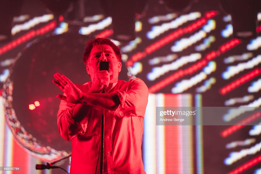 James Murphy of LCD Soundsystem performs on the Alpha Stage during day 3 of Lowlands Festival 2016 on August 21, 2016 in Biddinghuizen, Netherlands.