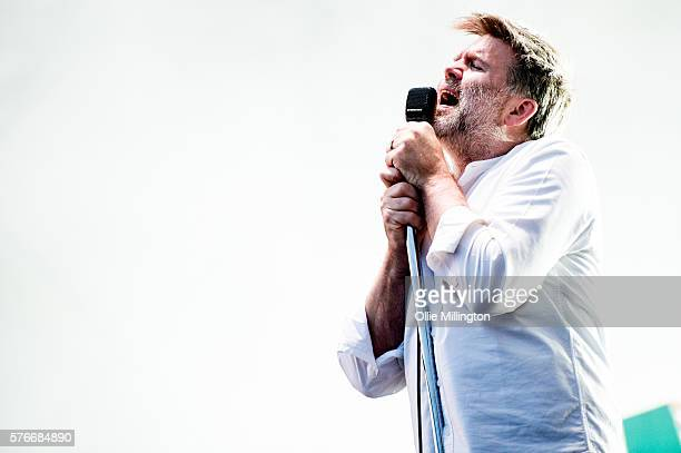 James Murphy of LCD Soundsystem performs onstage headlining at the end of Day 2 of Lovebox Festival 20016 at Victoria Park on July 16 2016 in London...