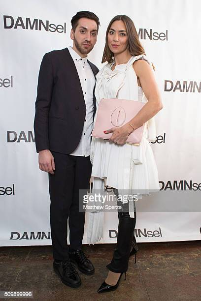 James Murray Anna Maria Sandgren wearing Damsel attend the Damnsel 'Garmeoplasty' presentation during Fall 2016 New York Fashion Week on February 12...