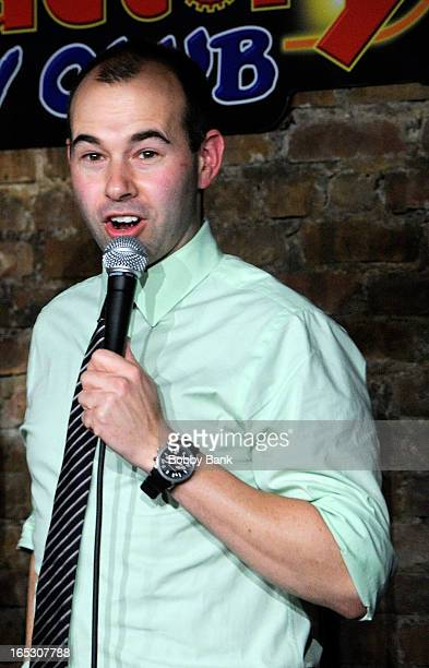 James Murray of The Impractical Jokers performs at The Stress Factory Comedy Club on April 2 2013 in New Brunswick New Jersey