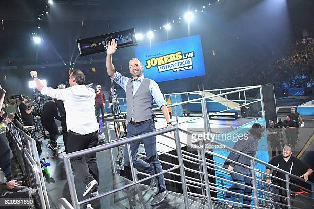 James Murray speaks during Impractical Jokers Live Nitro Circus Spectacular at Prudential Center on November 3 2016 in Newark New Jersey JPG