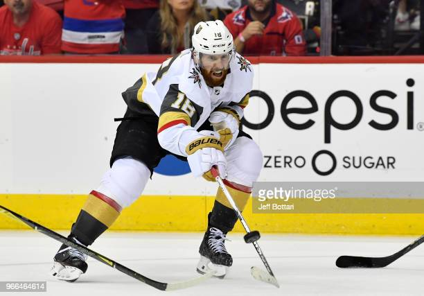 James Neal of the Vegas Golden Knights skates during the third period against the Washington Capitals in Game Three of the Stanley Cup Final during...