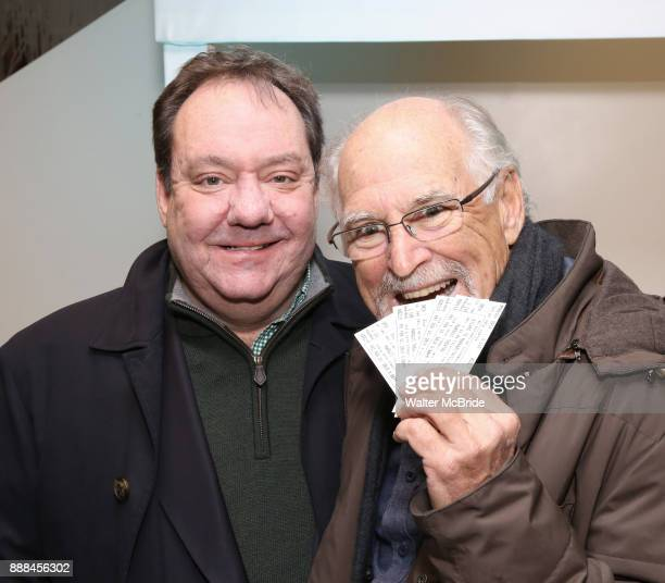 James Nederlander Jr and Jimmy Buffett hand out free hamburgers as they offically open up the Box Office for his Broadway Musical 'Escape To...
