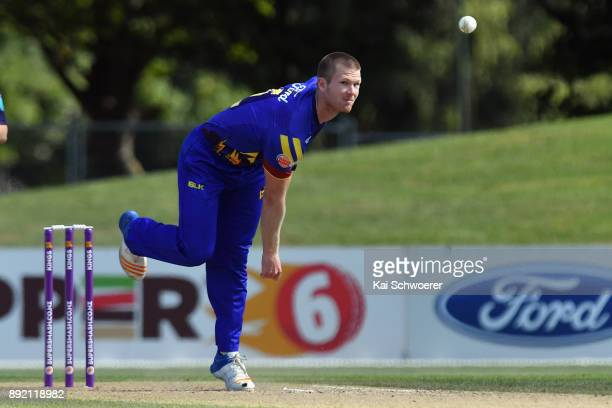 James Neesham of Otago bowls during the Supersmash Twenty20 match between Canterbury and Otago on December 14 2017 in Christchurch New Zealand