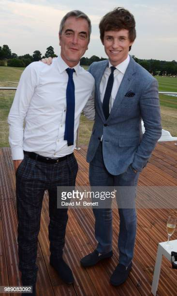 James Nesbitt and Eddie Redmayne attend the Audi Polo Challenge at Coworth Park Polo Club on July 1 2018 in Ascot England