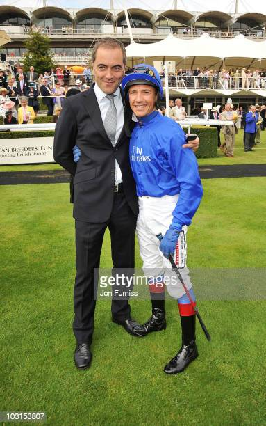 James Nesbitt and Frankie Dettori attend Ladies Day at the Glorious Goodwood Festival at Goodwood on July 29 2010 in Chichester England