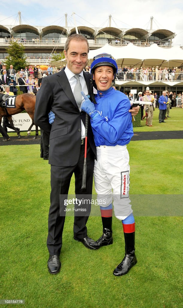 James Nesbitt (L) and Frankie Dettori attend Ladies Day at the Glorious Goodwood Festival at Goodwood on July 29, 2010 in Chichester, England.