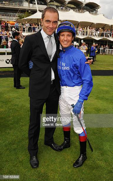 James Nesbitt and Frankie Dettori attend the Ladies Day at Glorious Goodwood at the Goodwood Racecourse on July 29 2010 in Chichester England