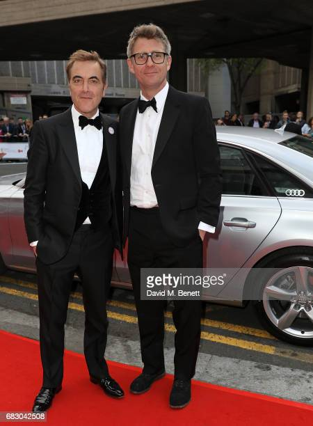 James Nesbitt and guest arrive in an Audi at the BAFTA TV on Sunday 14 May 2017 on May 14 2017 in London United Kingdom