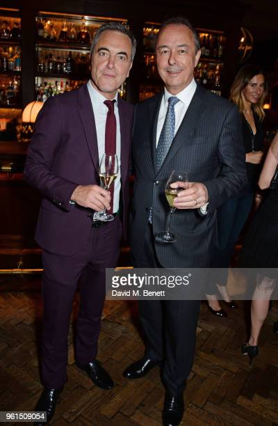 James Nesbitt and Tony McHale Managing Director of The Carlyle attend a VIP after party at Rosewood London celebrating the UK Premiere of Always At...