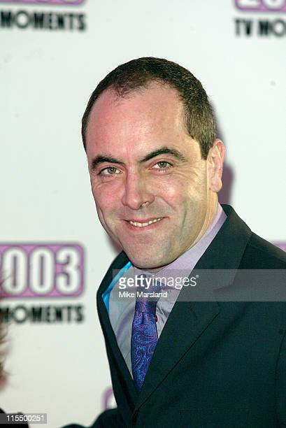 James Nesbitt during The Best of 2003 TV Moments Arrivals at BBC Television Centre in London Great Britain