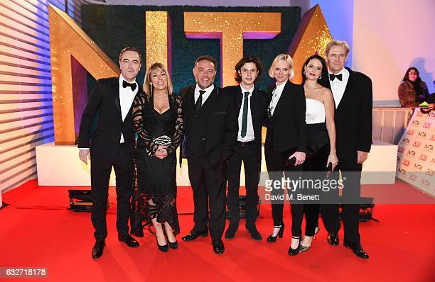 James Nesbitt Fay Ripley John Thomson Ceallach Spellman Hermione Norris Leanne Best and Robert Bathurst of Cold Feet attend the National Television...