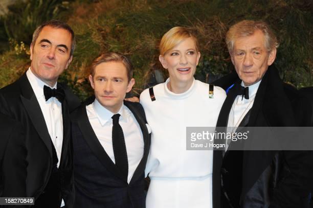 """James Nesbitt, Martin Freeman, Cate Blanchett and Sir Ian Mckellen attend a royal film performance of """"The Hobbit: An Unexpected Journey"""" at The..."""