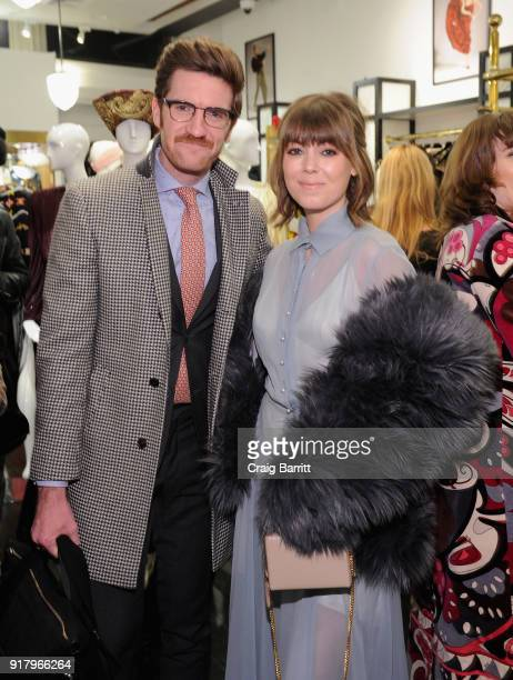 James Nord and Jenny Cipoletti attend Vintage For The Future A Norma Kamali Retrospective by What Goes Around Comes Around on February 13 2018 in New...