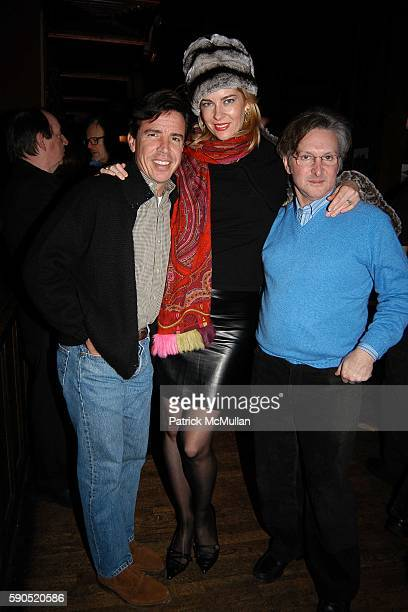 James North Paige Bluhdorn and David Croner attend Kim Garfunkel performance at Au Bar on January 17 2005 in New York City