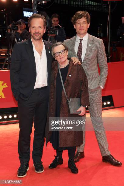 James Norton Agnieszka Holland and Peter Sarsgaard arrive for the Mr Jones premmiere during the 69th Berlinale International Film Festival Berlin at...