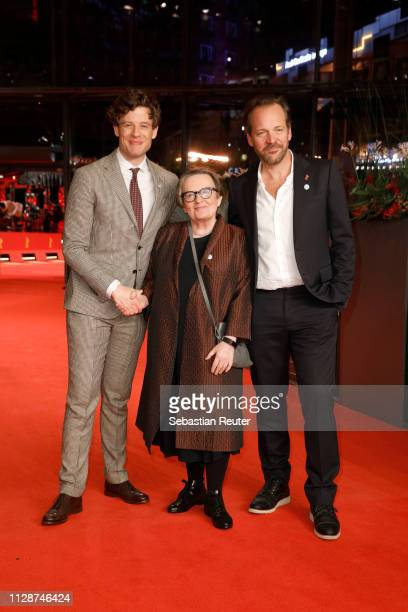 James Norton Agnieszka Holland and Peter Sarsgaard arrive for the Mr Jones premiere during the 69th Berlinale International Film Festival Berlin at...