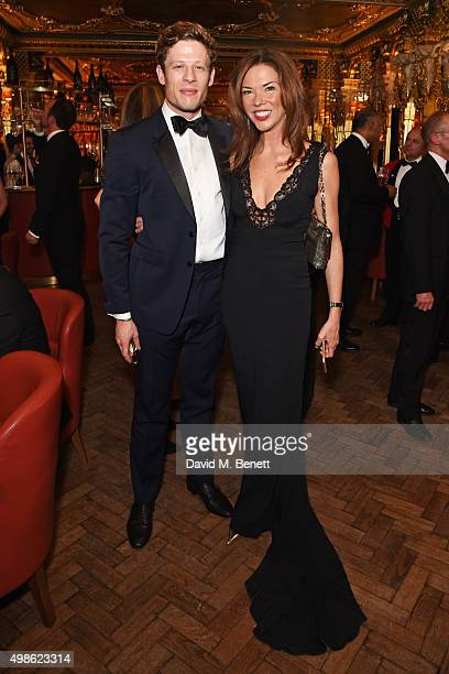 James Norton and Heather Kerzner attend the Royal Marines Boxing Bout at Cafe Royal in celebration of their 150th Anniversary on November 24 2015 in...