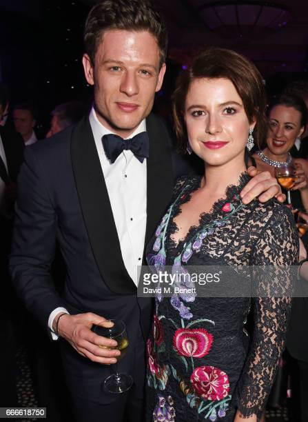 James Norton and Jessie Buckley attend The Olivier Awards 2017 after party at Rosewood London on April 9 2017 in London England