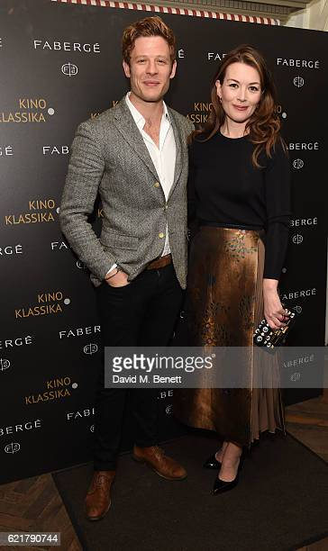 James Norton and Justine Waddell attend a screening of Vsevolod Pudovkin's masterpiece 'The End of St Petersburg' at The Electric Cinema on November...