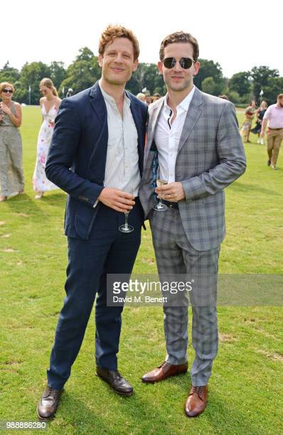 James Norton and Nick Hendrix attend the Audi Polo Challenge at Coworth Park Polo Club on July 1 2018 in Ascot England