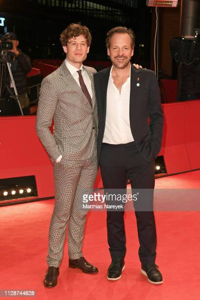 James Norton and Peter Sarsgaard attend the Mr Jones premiere during the 69th Berlinale International Film Festival Berlin at Berlinale Palace on...