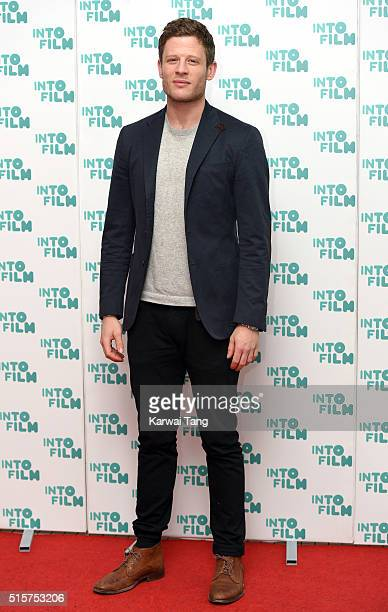 James Norton arrives for the 2016 Into Film Awards at Odeon Leicester Square on March 15 2016 in London England