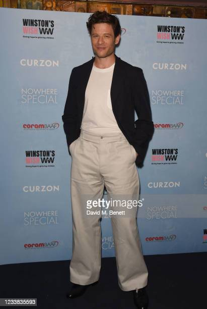"""James Norton attends a special screening of """"Nowhere Special"""" at The Curzon Mayfair on July 6, 2021 in London, England."""