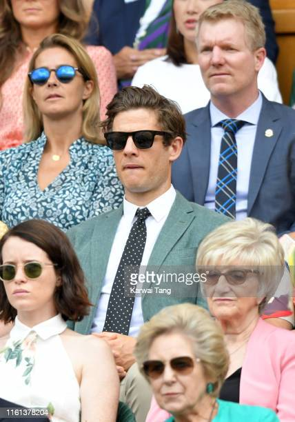 James Norton attends day 10 of the Wimbledon Tennis Championships at the All England Lawn Tennis and Croquet Club on July 11, 2019 in London, England.