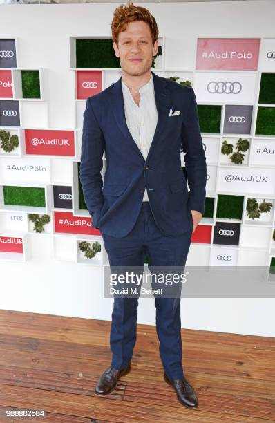 James Norton attends the Audi Polo Challenge at Coworth Park Polo Club on July 1 2018 in Ascot England