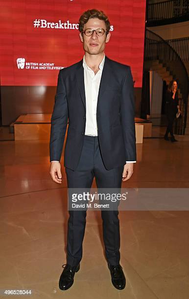 James Norton attends the BAFTA Breakthrough Brits reception supported by Burberry at 121 Regent Street on November 10 2015 in London England