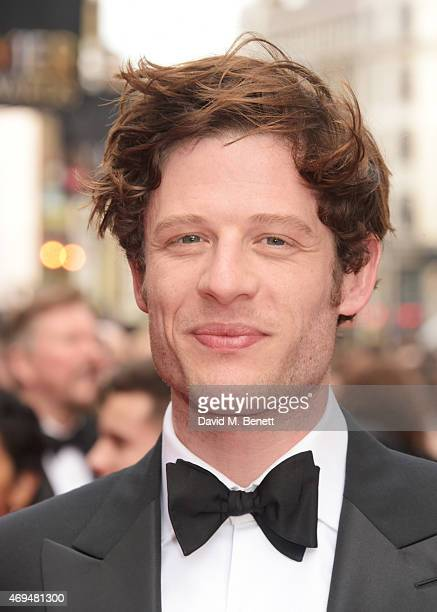 James Norton attends The Olivier Awards at The Royal Opera House on April 12 2015 in London England