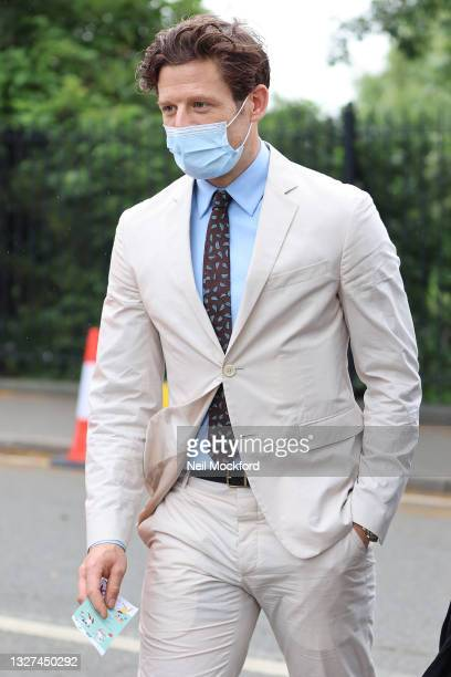 James Norton attends Wimbledon Championships Tennis Tournament Day 9 at All England Lawn Tennis and Croquet Club on July 07, 2021 in London, England.