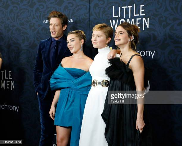 James Norton Florence Pugh Eliza Scanlen and Emma Watson attend the world premiere of Little Women at Museum of Modern Art on December 07 2019 in New...