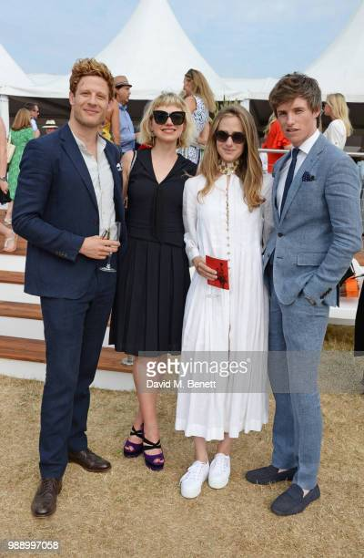James Norton, Imogen Poots, Hannah Redmayne and Eddie Redmayne attend the Audi Polo Challenge at Coworth Park Polo Club on July 1, 2018 in Ascot,...