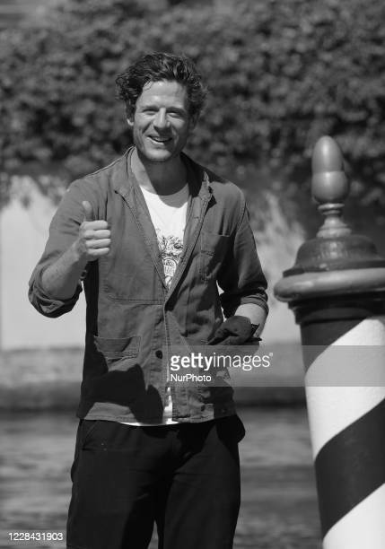 Image was converted to black and white) James Norton is seen arriving at the Excelsior during the 77th Venice Film Festival on September 09, 2020 in...