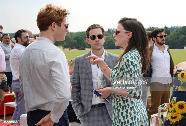 James Norton Nick Hendrix and Aisling Bea attend the Audi Polo Challenge at Coworth Park Polo Club on July 1 2018 in Ascot England