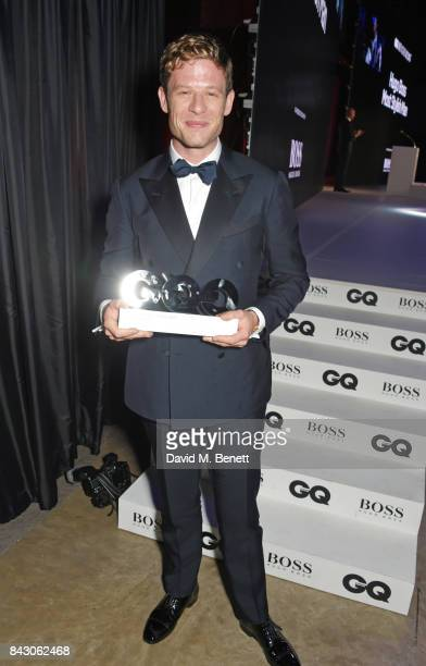 James Norton winner of the Breakthrough Actor of the Year award attends the GQ Men Of The Year Awards at the Tate Modern on September 5 2017 in...