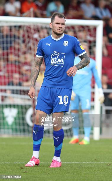 James Norwood of Tranmere Rovers in action during the Sky Bet League Two match between Northampton Town and Tranmere Rovers at PTS Academy Stadium on...