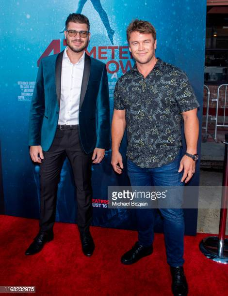 James Nunn and Luke Hemsworth attend the LA Premiere of 47 Meters Down UNCAGED on August 13 2019 in Los Angeles California