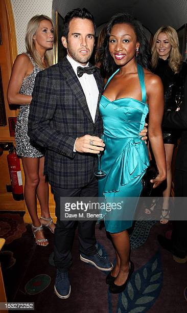 James O' Keefe and Beverley Knight attend Ben Caring's birthday party at Annabel's on October 2 2012 in London England