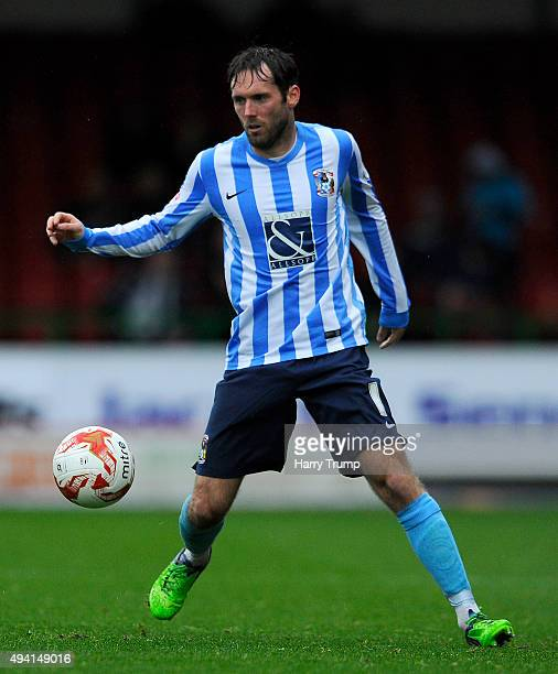 James O'Brien of Coventry City during the Sky Bet League One match between Swindon Town and Coventry City at The County Ground on October 24 2015 in...