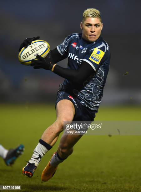 James OConnor of Sale Sharks during the Aviva Premiership match between Sale Sharks and Bath Rugby at AJ Bell Stadium on December 23 2017 in Salford...